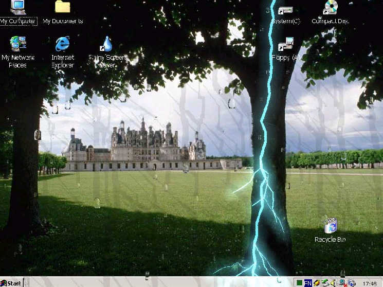 rainy screensavers اسکرين سرور باران