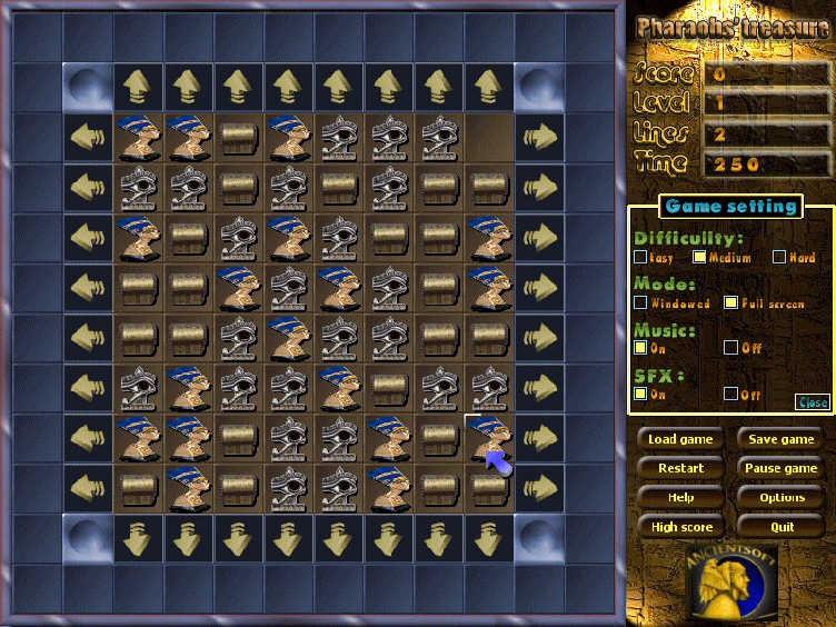 Pharaohs Puzzle Game, Pharaohs Treasure Games Download